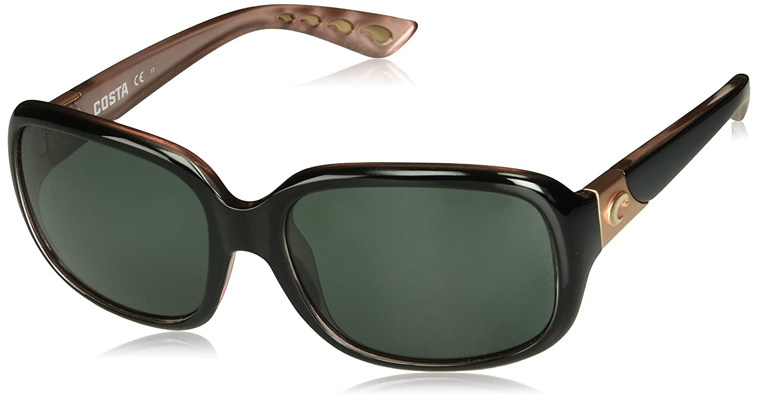 c9c314f011 Amazon.com  Costa Del Mar Gannet Sunglasses Shiny Black Hibiscus Gray  580Glass  Shoes