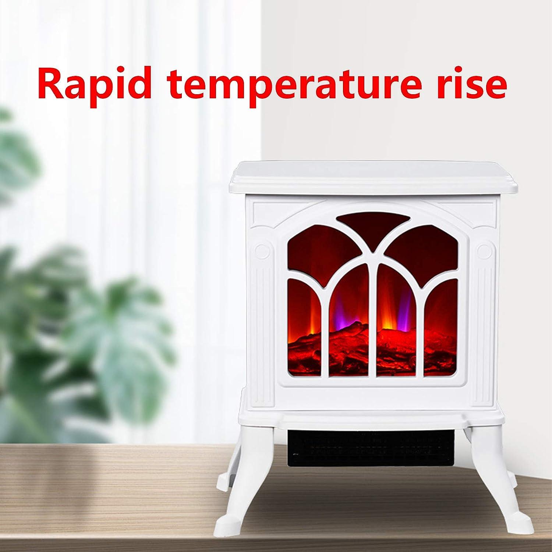 ZZQ Chemin/ée /électrique /à Effet de Flamme Blanc 1500W Thermostat /éclairage LED Effet de Flamme 3D,Dimmable