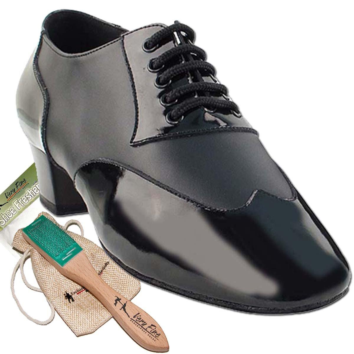 Mens Ballroom Dance Shoes Tango Wedding Salsa Latin Dance Shoes CM100101EB - Very Fine 1.5