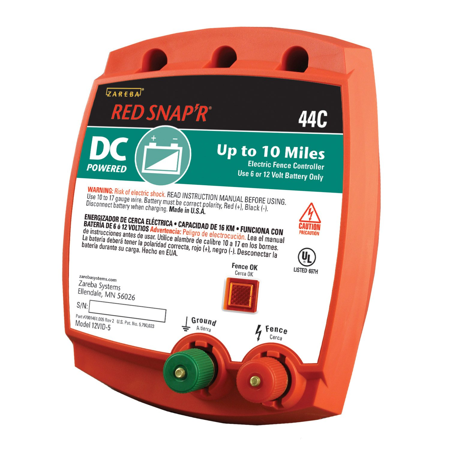 Amazon red snapr 44c battery powered solid state 10 miles amazon red snapr 44c battery powered solid state 10 miles fence controller agricultural fences garden outdoor sciox Choice Image