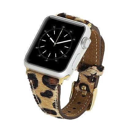 Amazon.com: Venito Messina - Correa de piel para reloj Apple ...
