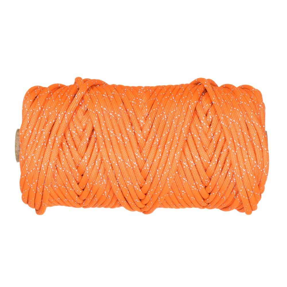 Paracord Planet 700lb Criss Cross Double-Reflective Paracord - 2 Bright Retro-Reflective Tracers for the Best in High-Visibility Cord - 100% Nylon Cord is Made in the USA by PARACORD PLANET (Image #2)