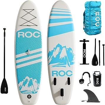 Amazon.com: Roc Tabla de remo hinchable W incluye accesorios ...