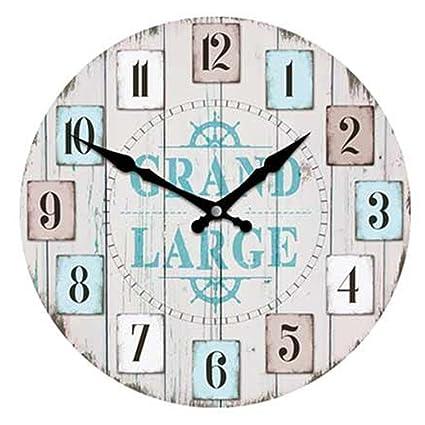 Les Trésors De Lily P9683 Horloge Murale Monde Marin