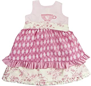product image for Cheeky Banana Little Girl Tea Party Apron Dress Pink [Apparel]