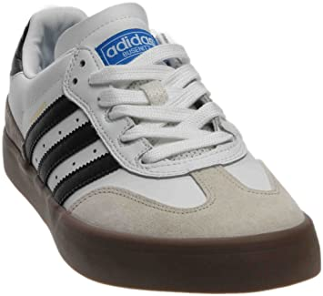 big sale 4212b 34d64 adidas Busenitz Vulc Samba Edition White Core Black Bluebird Skate Shoes-Men  10.0