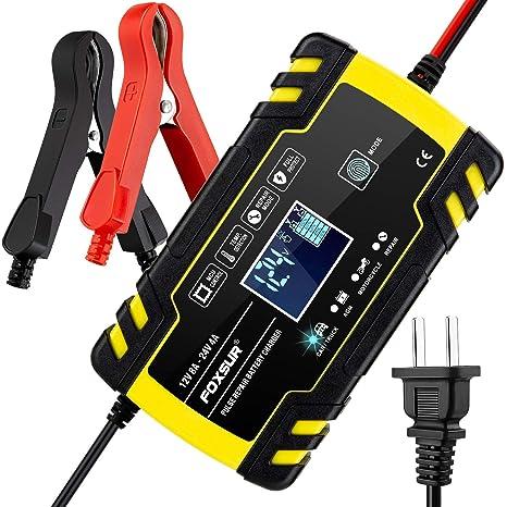 Amazon.com: MEEARO Cargador de batería de coche mantenedor ...