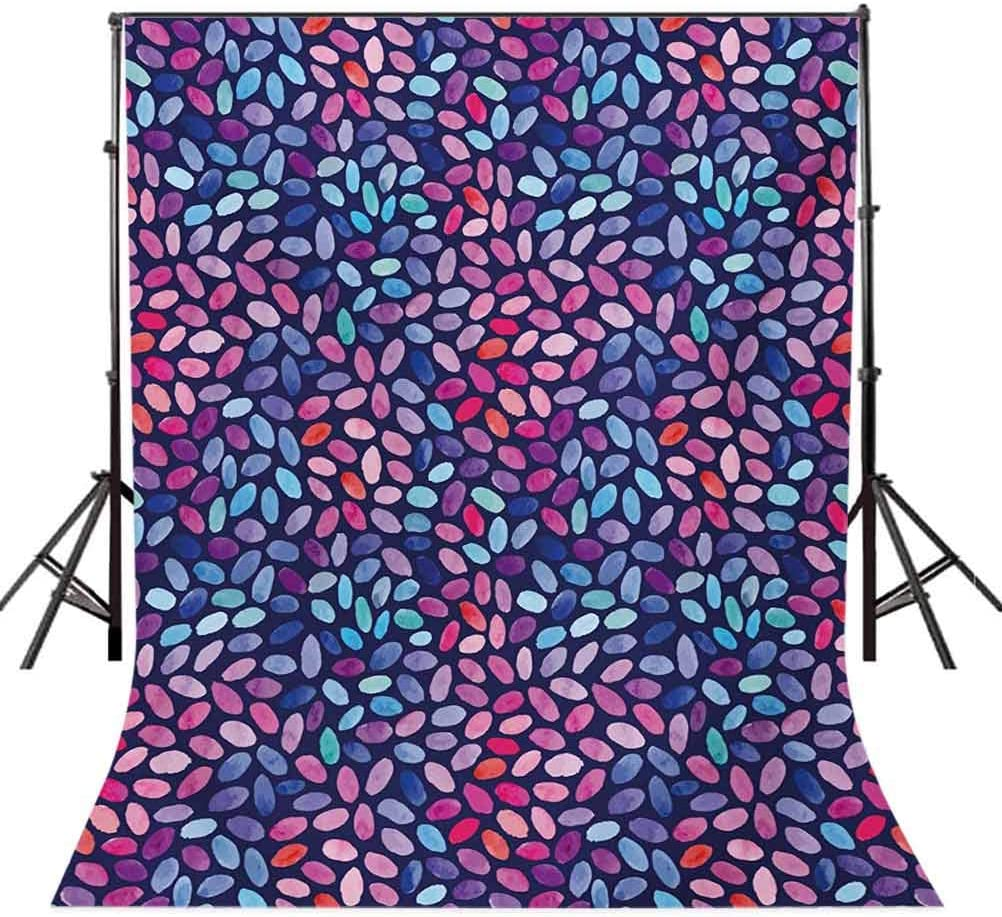 10x15 FT Photography Backdrop Vibrant Colored Mosaic of Blooming Flower Petals Funky Artful Paintbrush Effect Background for Baby Shower Birthday Wedding Bridal Shower Party Decoration Photo Studio
