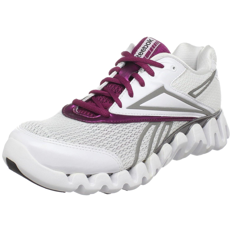 Amazon.com   Reebok Women's Zig Fuel Running Shoe, White/Brazen Berry/Pewter/Black,  8 M US   Road Running