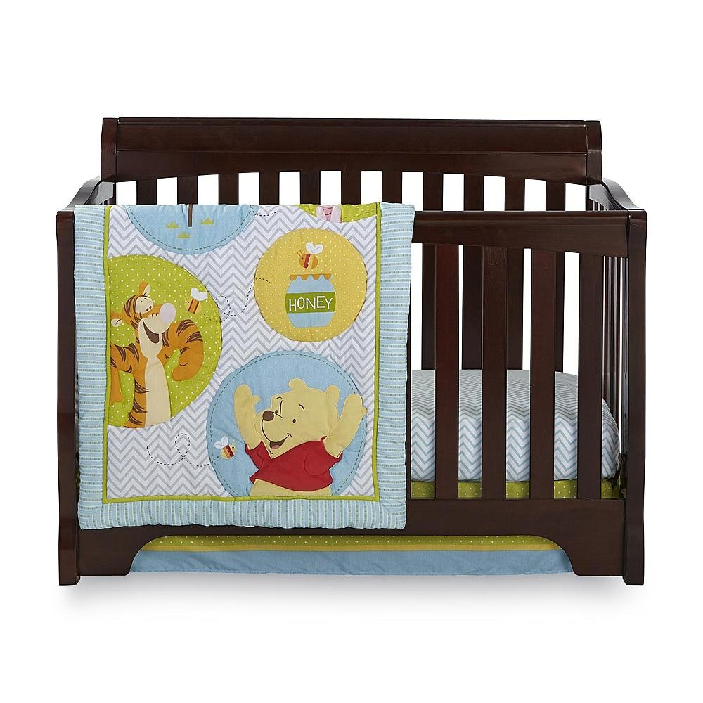 Amazon.com : 4 Piece Baby Crib Bedding Sets, For Girls, For Boys (Winnie  The Pooh) : Baby