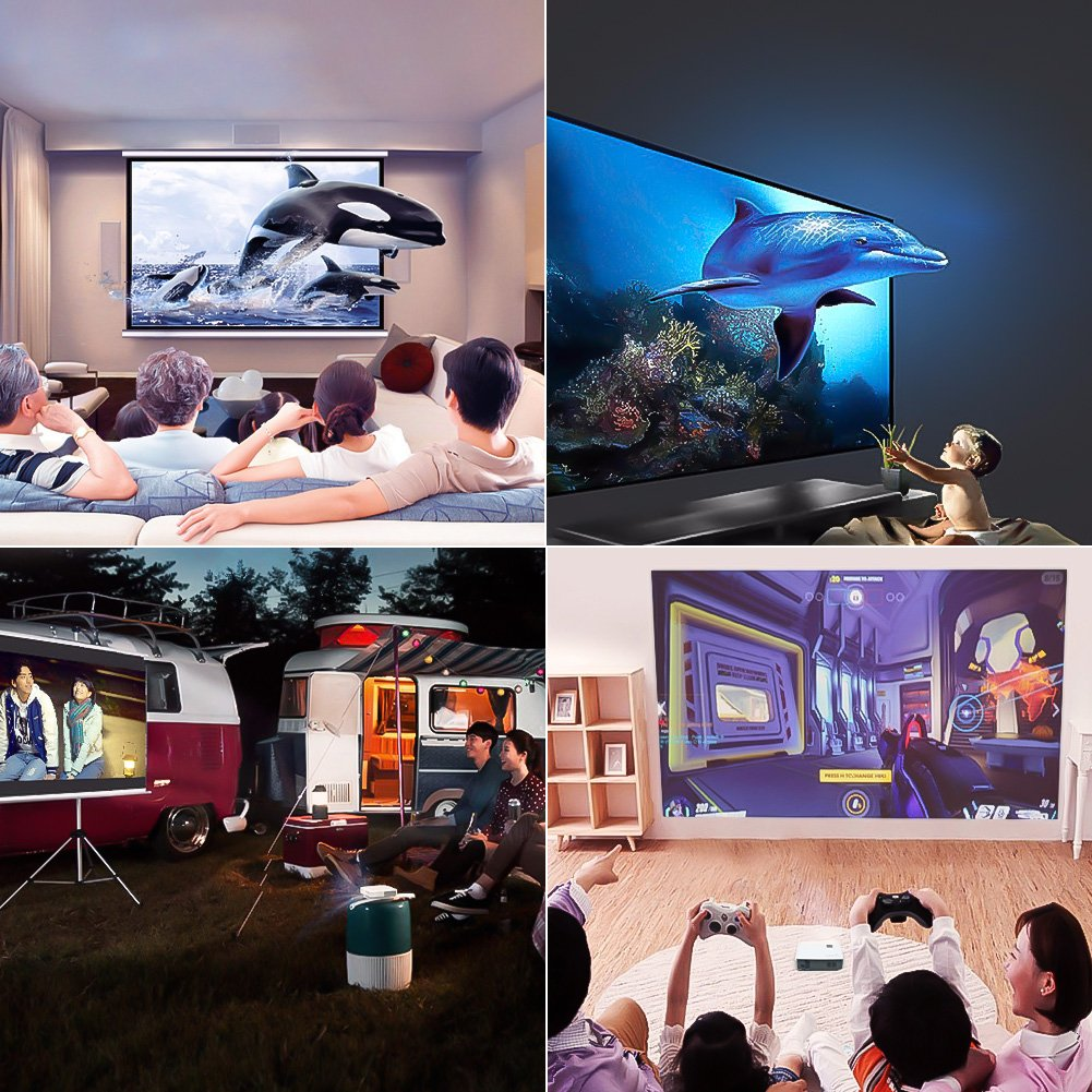 gyman Proyector 2000 lúmenes LCD Cine en casa Proyector de ...