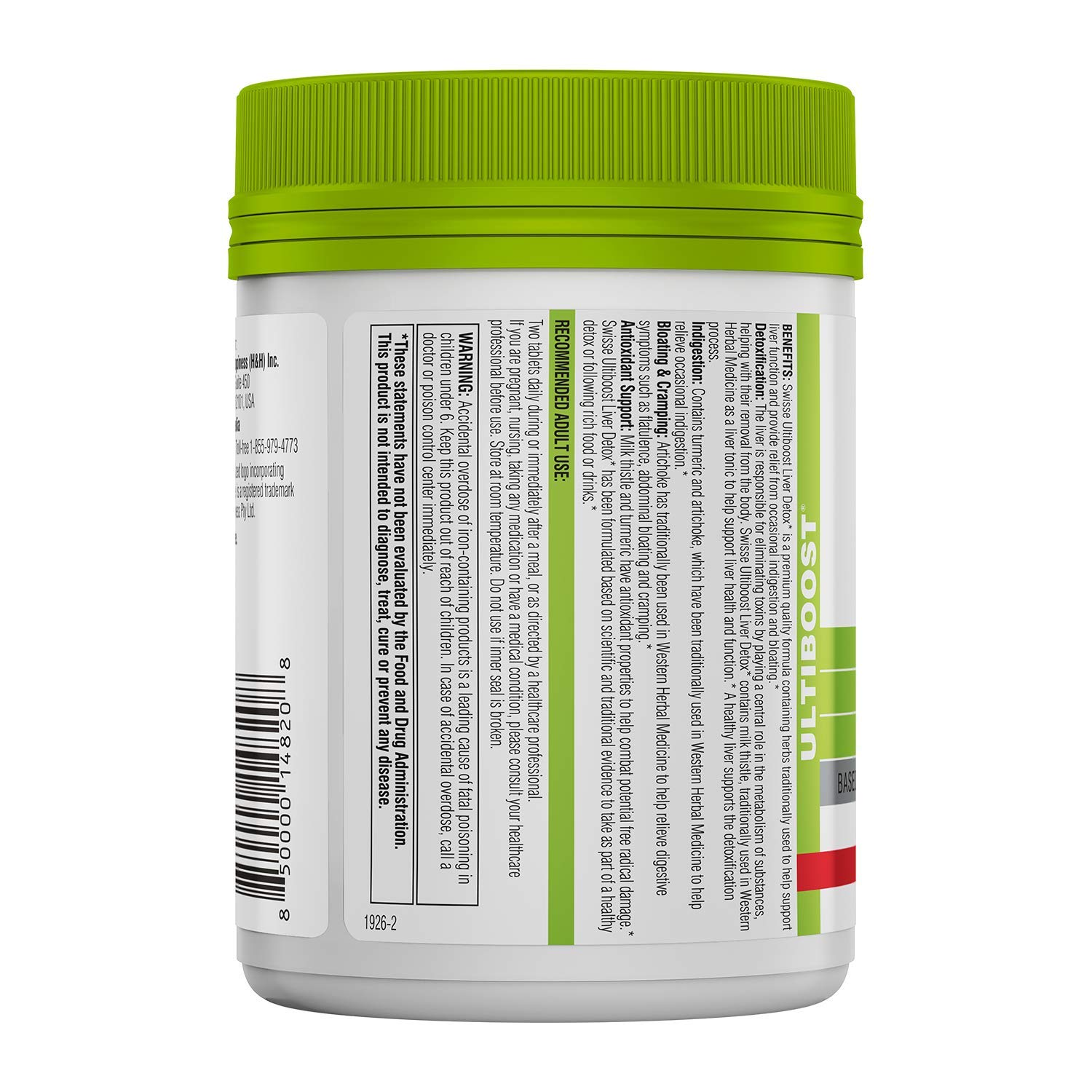 Swisse Ultiboost Liver Detox | Supports Liver Health & Function | Provides Relief for Indigestion & Bloating | Milk Thistle, Artichoke & Tumeric | 180 Tablets by Swisse (Image #2)