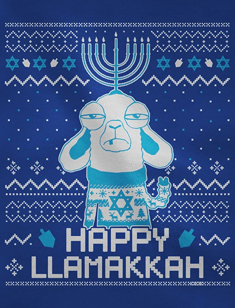Funny Jewish Hanukkah Happy LlamaKkah Ugly Christmas Singlet TeeStars