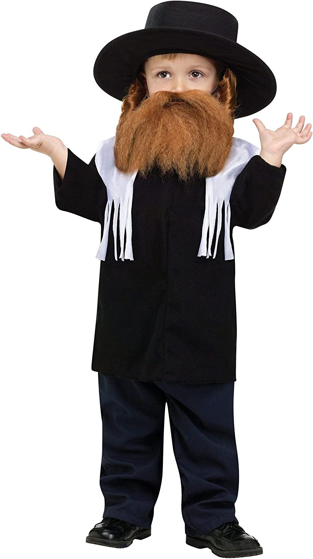 Kids and Adults Jewish Rabbi Costume Set Fancy Dress
