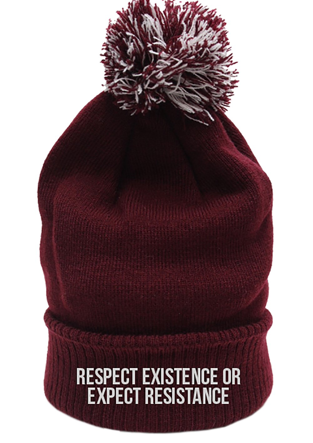 Respect Existence or Expect Resistance Beanie Hat