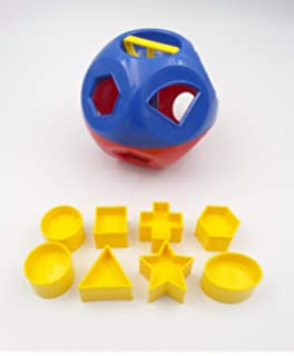 Tupperware Shape-O-Toy Ball Sorter in Red//Blue Color w//10 Yellow Shapes NEW!