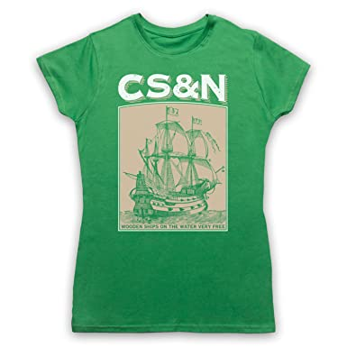 Inspired Apparel Inspired By Crosby Stills Nash Wooden Ships Unofficial Womens T Shirt