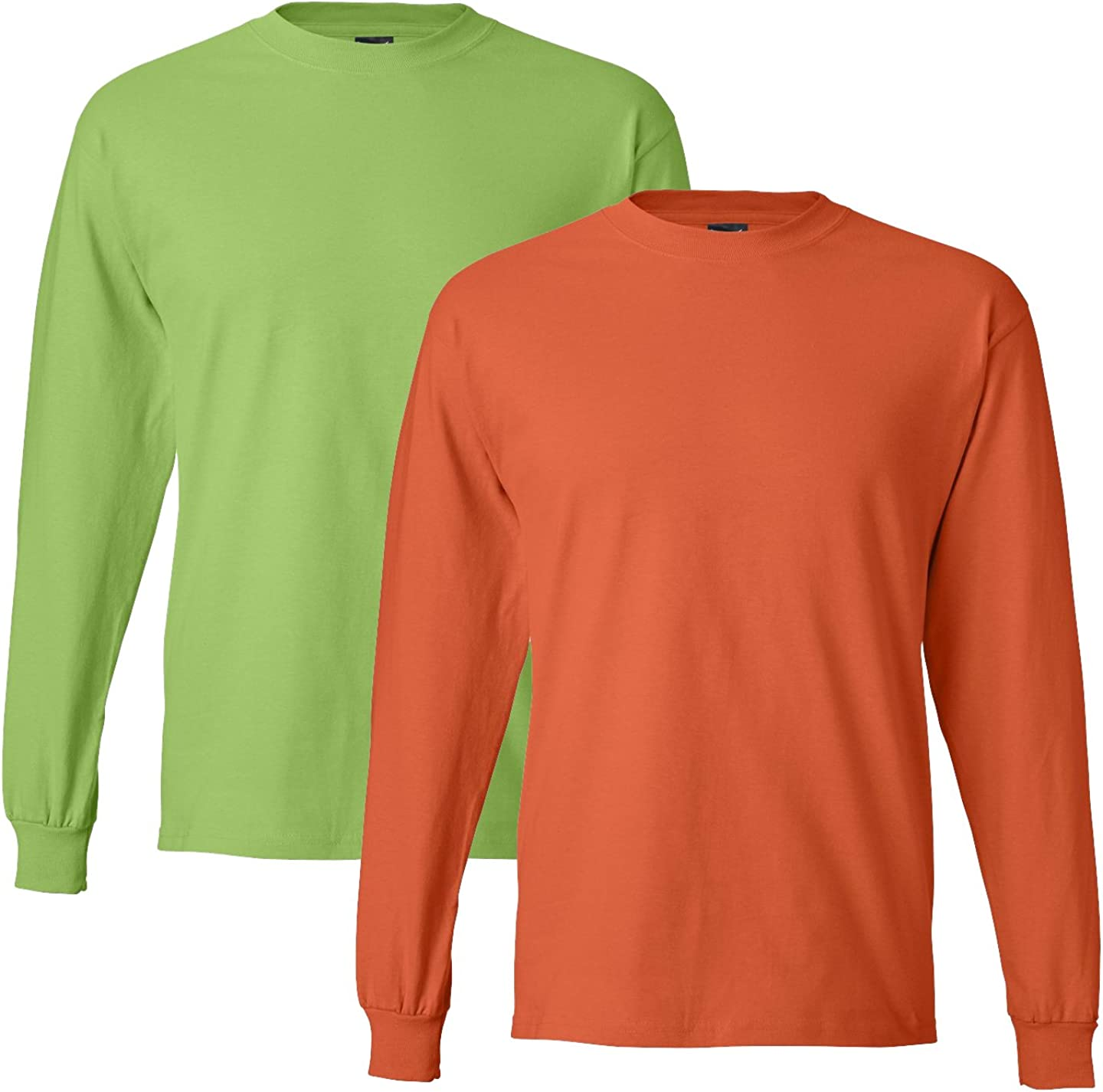 Hanes Mens Long-Sleeve Beefy-T Shirt Pack of 2