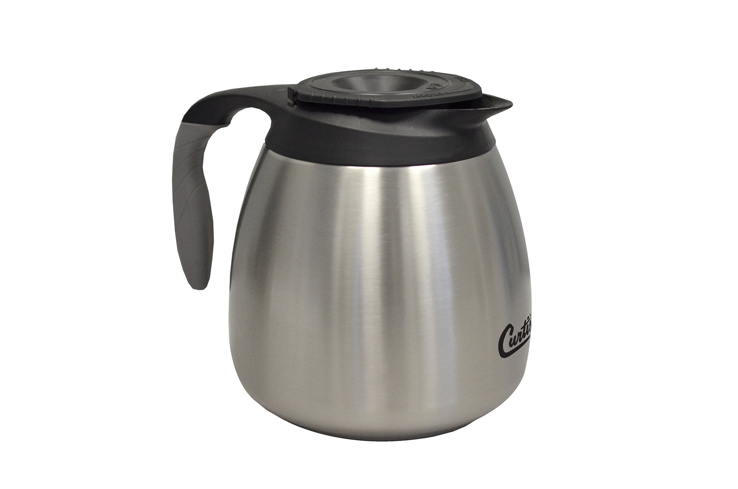 Wilbur Curtis Thermal Dispenser Seamless Pourpot, 64 Oz, Ss Exterior/Liner, Brew-Thru Lid - Commercial Airpot Pourpot Beverage Dispenser - CLXP6401S100 (Each)