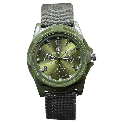 TOOGOO Relojes Militares de Tejer Reloj Ejercito Fuerzas de Tierra, Mares y aereas Reloj Deportivo, Verde: Amazon.es: Relojes