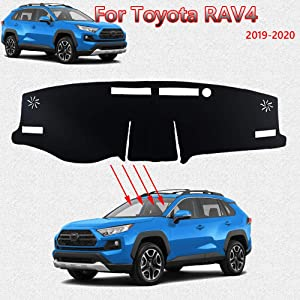 Great-luck Dashboard Cover Mat Custom Fit Dashboard Protector,Dash Cover Easy Installation, Reduces Glare,for Toyota RAV4(2019-2020)