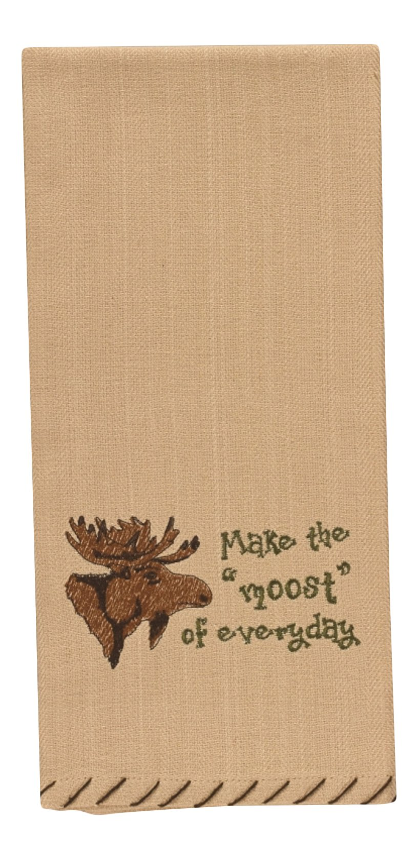 Park Designs Make The Moost Of Every Day Moose Head Embroidered Kitchen Dish Towel 28 Inch
