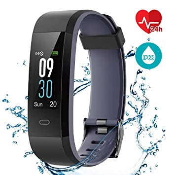 CHEREEKI Montre Connectée Podometre Enfant Bracelet Connecté Cardio Smartwatch Etanche IP68 Sport Smart Watch Cardiofrequencemetre Fitness