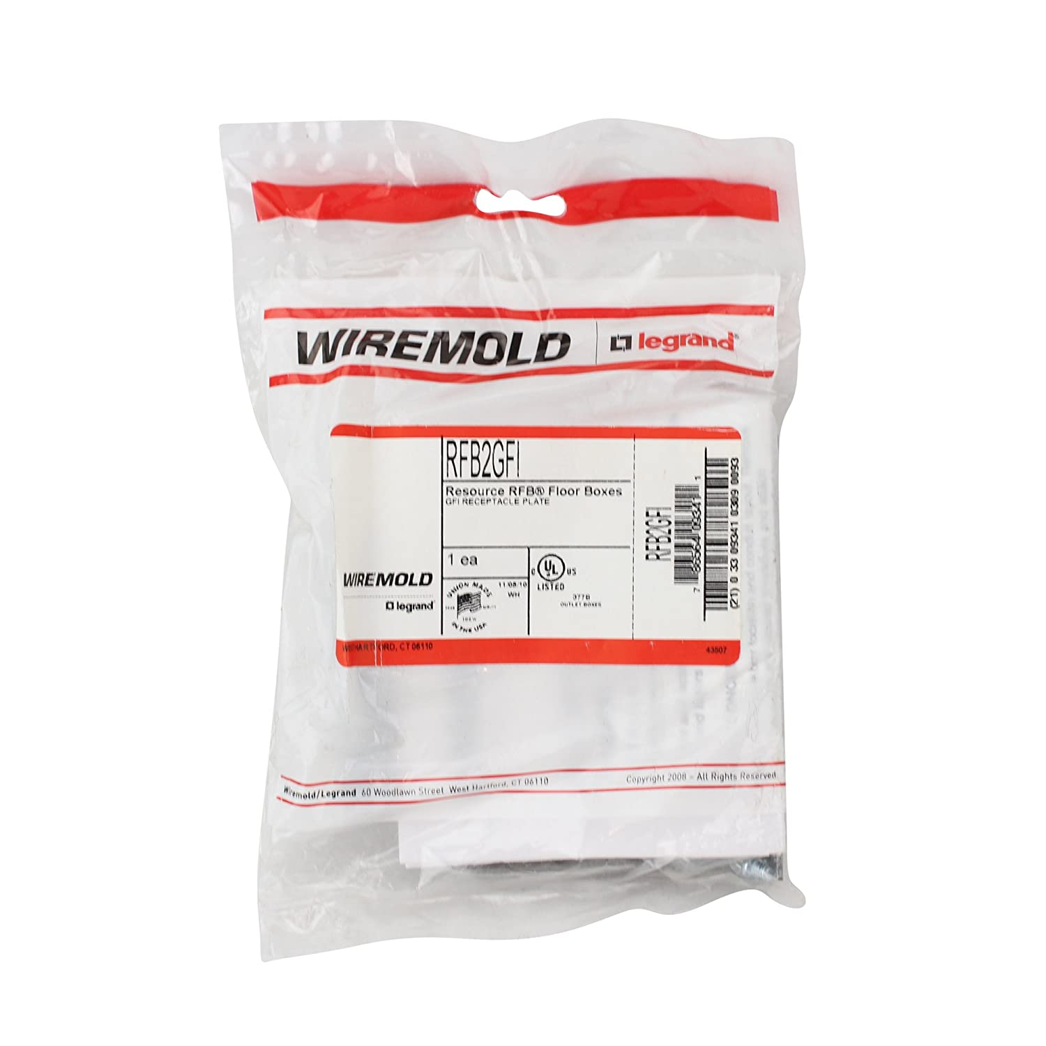 Wiremold Legrand RFB2GFI RFB Floor Boxes GFI Receptacle Plate ...