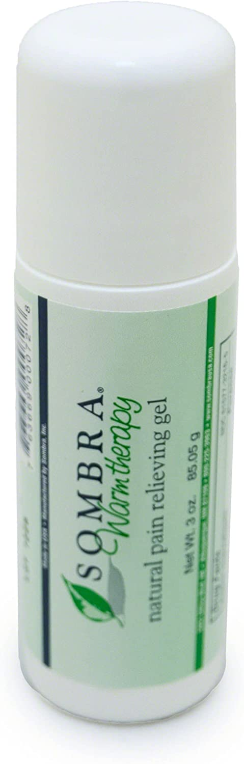 Sombra Warm Therapy Natural Pain Relieving Gel Roll On, 3-Ounce