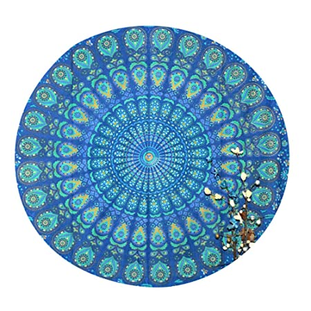 Marusthali Mandala Round Roundie Beach Throw Mandala ...