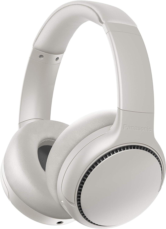 Panasonic RB-M700BE-C - Auriculares inalámbricos Bluetooth (Noise-Cancelling, vibración de Auriculares, Control por Voz, XBS Potenciador de Bajos, Cable de 1.2 m, batería de hasta 20 h), Blanco