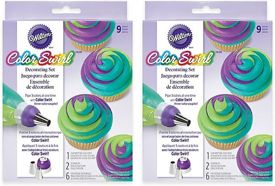 Wilton Color Swirl Three-Color Coupler Cupcake Decorating Kit 23-Piece