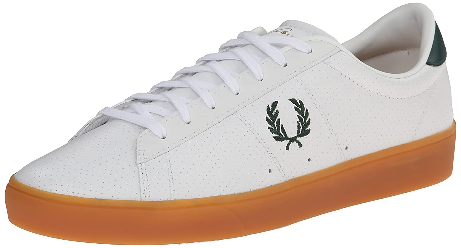44b31e650ed2c Fred Perry Men's Spencer Perforated-Leather Fashion Sneaker