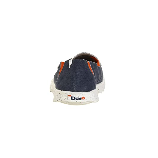 Dude Shoes - Mocasines de Lona para hombre Azul azul: Amazon.es: Zapatos y complementos