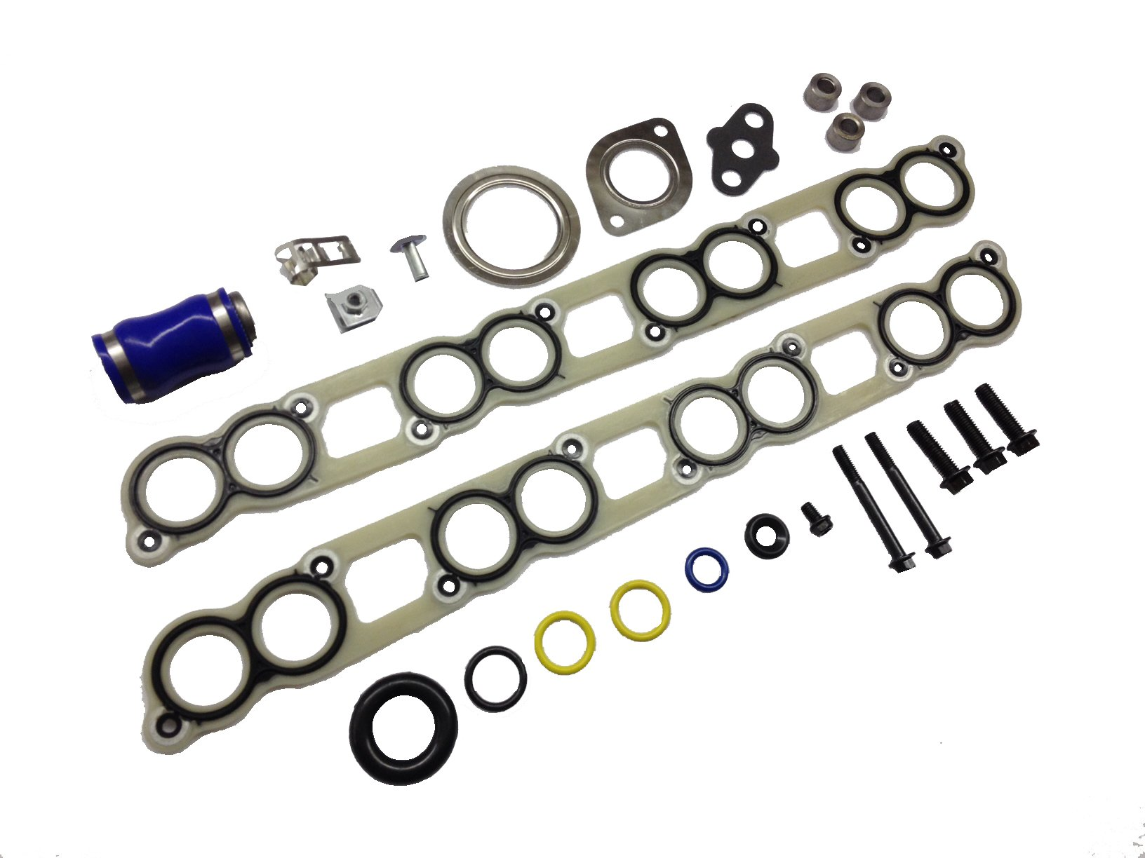Ford 6.0L intake manifold gasket set with EGR Cooler and Turbo Installation gasket kit for 2003 - 2007 Ford 6.0L Powerstroke diesel F250 F350 F450 F550 Excursion E-Series