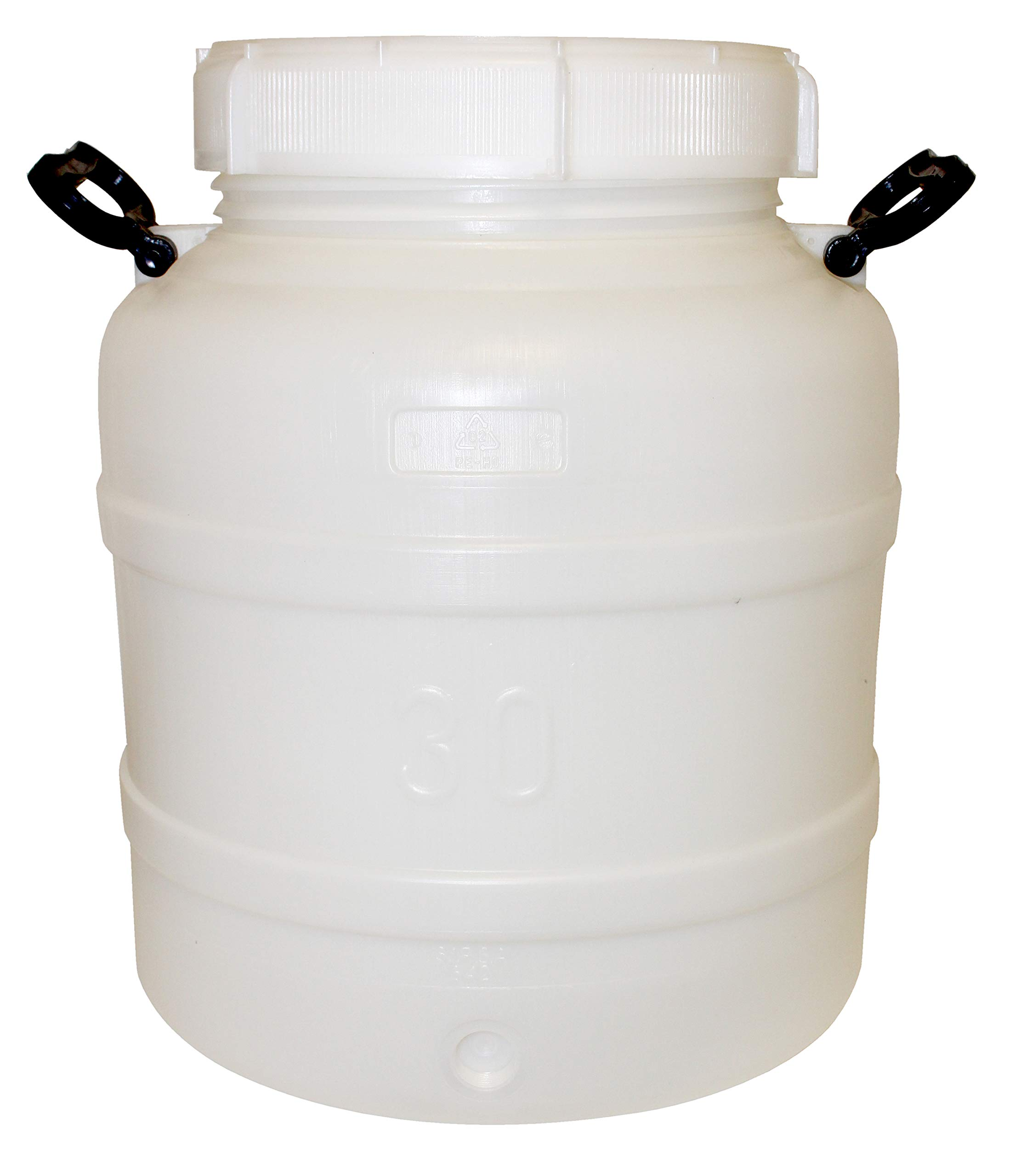 Home Brew Ohio Hurricane Prep Water Container Portable 30 Liter (7.9 Gallons) With Optional Spigot by LD Carlson