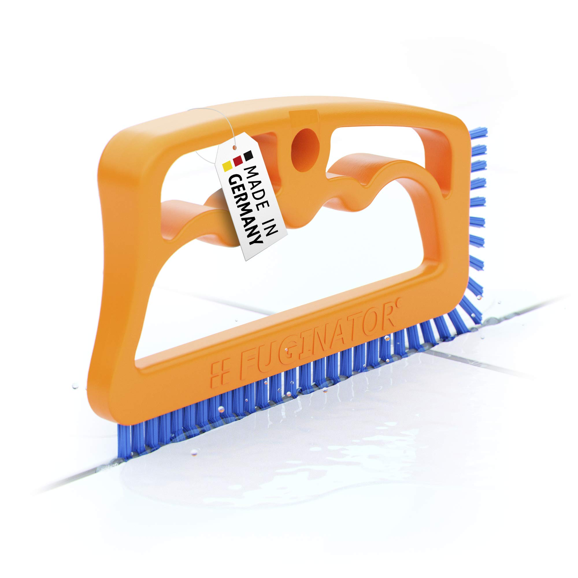 """Fugenial """"Fuginator®"""" Brosse pour les joints de la salle de bains, cuisine et le ménage - Nettoie efficacement les joints du carrelage en les débarrassant en surface de la moisissure - Bleu (nettoyage universel) product image"""