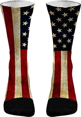 Vintage American Flag Athletic Socks   American Flag Compression Socks American Flag Socks Men American Flag Socks Women