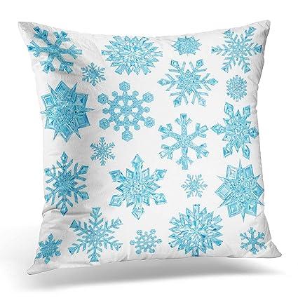 Amazon Emvency Decorative Pillow Cover Ice Of Light Blue Classy Ice Blue Decorative Pillows