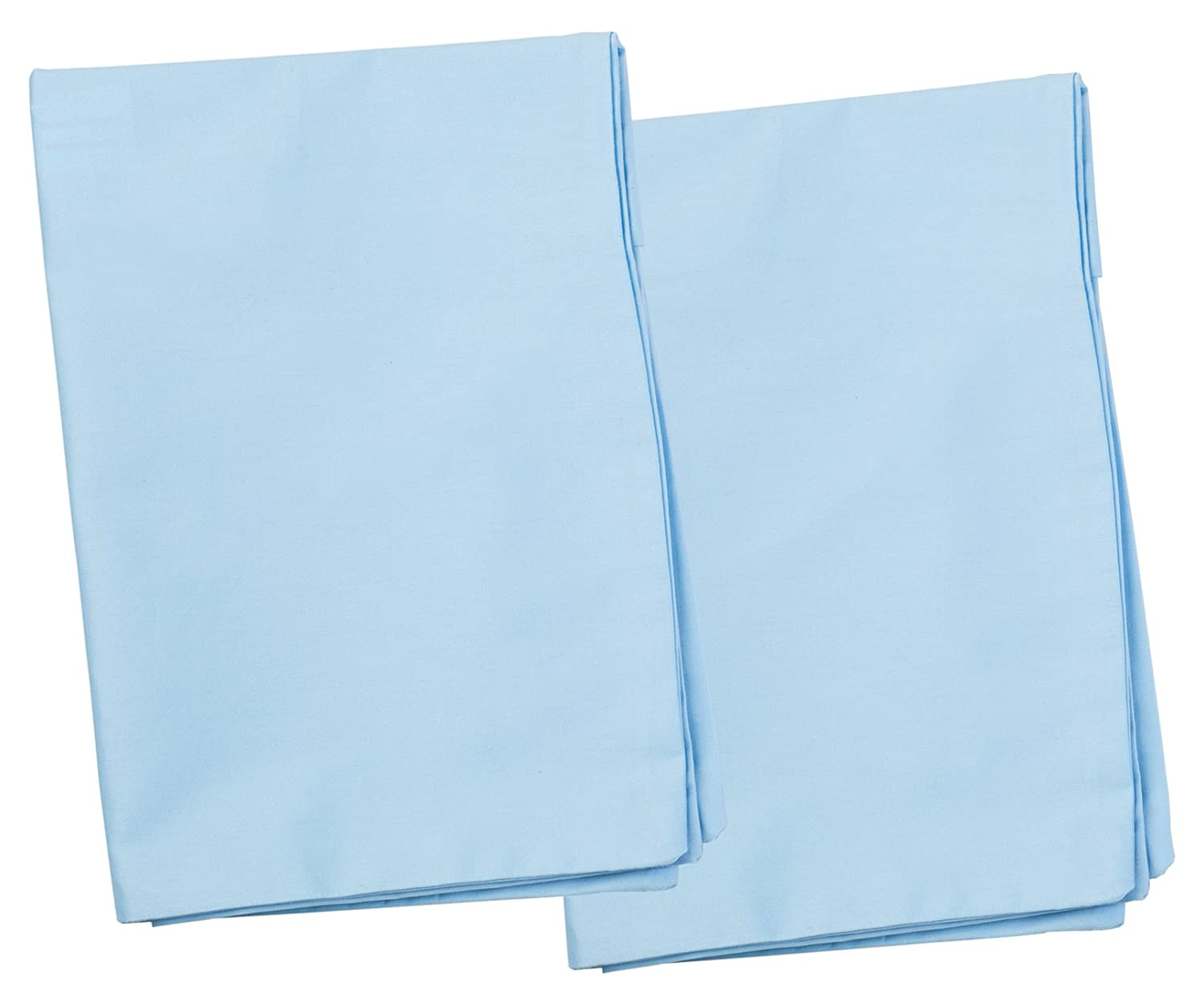 2 Blue Toddler Pillowcases - Envelope Style - For Pillows Sized 13x18 and 14x19 - 100% Cotton With Soft Sateen Weave - Machine Washable ZadisonJaxx ZJP-ZJTPC2BCS