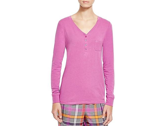 4d1b37e738 DKNY Women s Bright Future Long Sleeve Top Purple (M) at Amazon ...