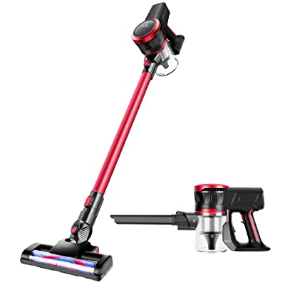 MOOSOO Cordless Vacuum Cleaner 17Kpa Strong Suction 2 in 1 Handheld Stick Vacuum Ultra-Quiet Vacuum Brush K17