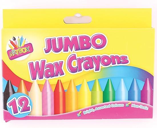 Artbox Jumbo - Ceras blandas (12 unidades): Amazon.es: Oficina y papelería