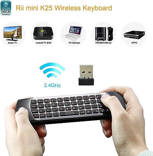 Rii Mini i25 (layout Español) - Mini Wireless teclado con ...