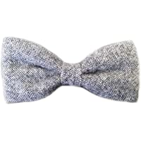 Blacksmith Men's Structure Design Woollen Bow Tie (Grey, Free Size)