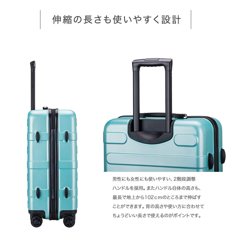 6cff819b78 Amazon | (ヴィヴィシティ) Vivicity スーツケース 機内持込可 大容量 大型軽量 8輪 静音 TSAロック搭載  100%PC【1年間修理保証対応】 | スーツケース