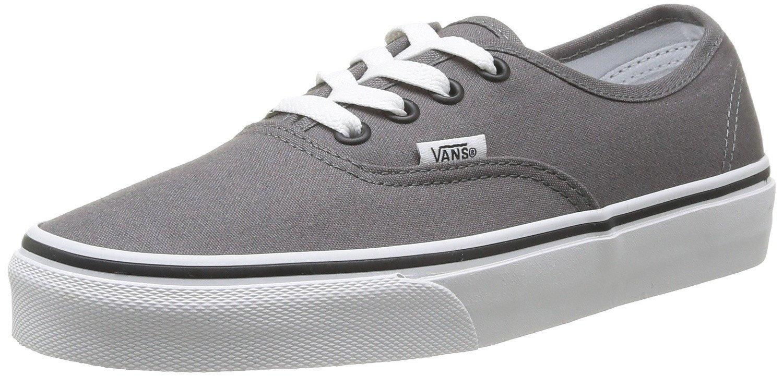 Vans Authentic Unisex Skate Trainers Shoes Pewter/Black 7 B(M) US Women/5.5 D(M) US Men