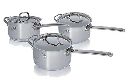 Chef Master Masterchef CW0002960 - Batería de Cocina, 3 Piezas de 16 ...