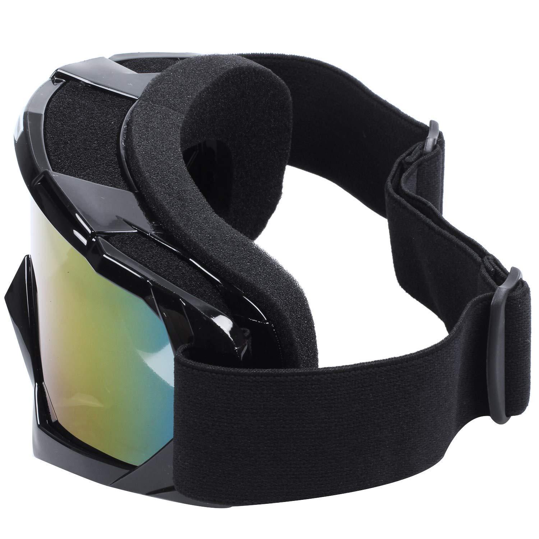 Sothat Lentille Unique Motocross Goggles Lunettes de ATV Cross-Country Dirt Velo Moto Ski Noir