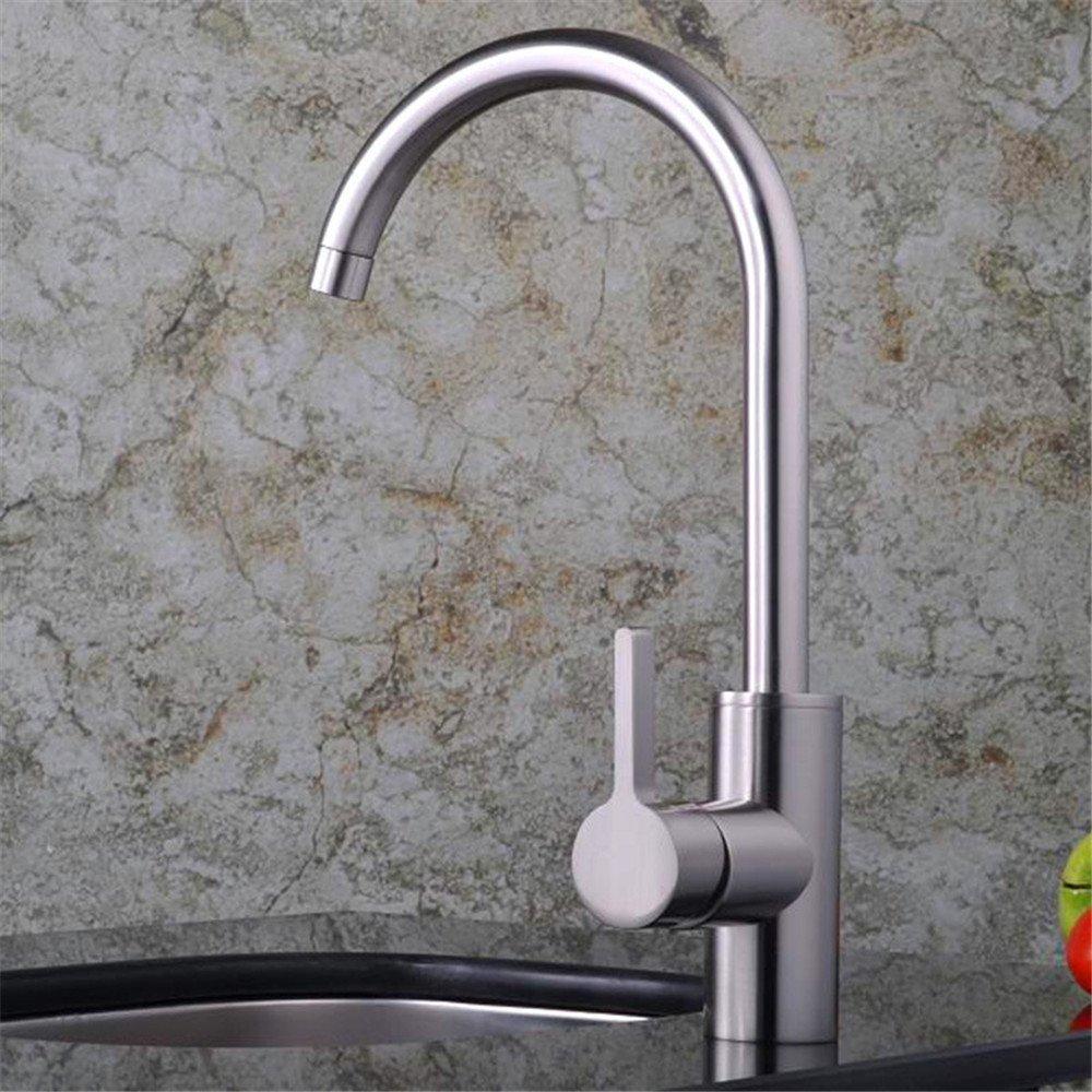Lalaky Küchenarmatur Küche Wasserhahn Spültischarmatur Spülbecken Mischbatterie Spüle Küchen Drehgelenk-Typ Einzelgelenk